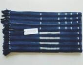 Vintage Indigo Mudcloth Blanket - African Tribal Throw - Bohemian Decor
