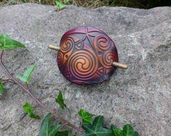 Celtic Spiral Hair Pin Barrette