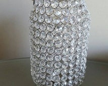 Bling Wedding lantern , beach lantern, candle holder