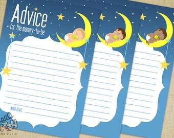 Twinkle Twinkle Baby Shower Advice Card - DIY Printable File
