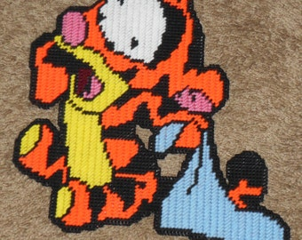 Nap time Baby Tigger Plastic Canvas Pattern