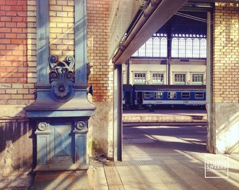 Train Travel // 5x7 Travel Photography // Hungarian Print