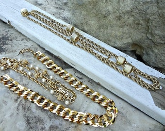 Assemblage Lot of Chains / Vintage Supplies / Chunky Jewelry Chain / DIY Jewelry Supplies / Great Textures