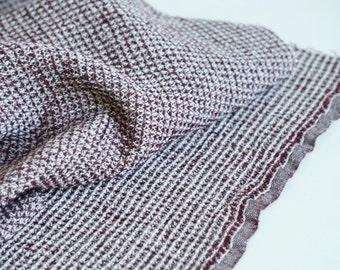 Organic Linen/ Cotton  with classical waffle--Bath towel--Linen kitchen--BORDEAUX  & Gray Color