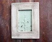 Framed Vintage Tin Ceiling Tile Wall Hanging Light Mint Green
