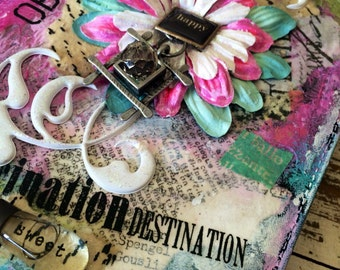 "Mixed media tablet case ""imagination""; fits Kindle Fire"