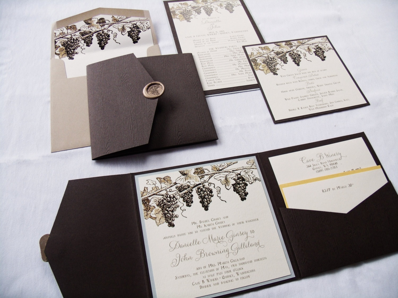 Shop Wedding Invitations: Rustic Wedding Invitation Winery Wedding Invitation