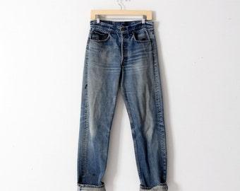 Levis 501 jeans, vintage 501s, american denim 31 x 33