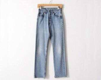 vintage Levi's 501 denim jeans, high waist denim, 27 x 32