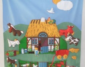 Vintage Danish wall hanging /  Farm to play with / by Jette Viby / 1979