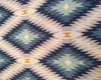 Azteca in midnight, Wander Collection by Joel dewberry for Free Spirit Fabrics 1/2 yd