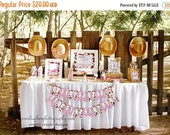 SALE Cowgirl Printable Party Package DIGITAL Cowgirl Birthday Package