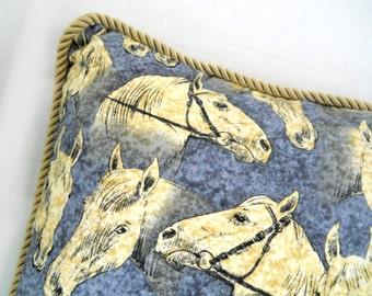 """Horse Motif Pillow — 20.5"""" x 18"""""""