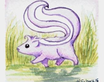 Trotter Skunk art print