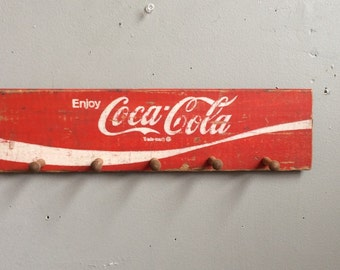 Upcycled Coca Cola Vintage Wood Soda Crate Hat Rack Chattanooga 1971
