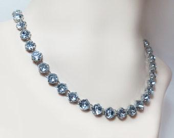 Rhinestone Silver Necklace