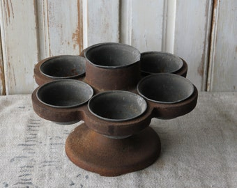SALE----Industrial French nail caddy - zinc and cast iron