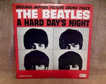 The BEATLES - A Hard Day's Night...Original Motion Picture Soundtrack - 1964  Vintage Vinyl Record Album