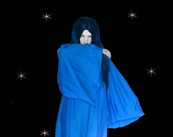50s Graduation Gown or Cosplay Robe, Harry Potter Costume, Blue Wizard, Vintage Grad Robe, Vintage Judges Robe, Choir Gown