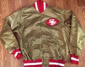 Wilson San Francisco 49ers gold jacket SF 42 vintage