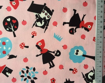 Red riding hood printed  fabric one yard