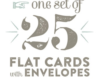 25 Cards & Envelopes