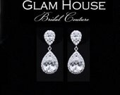 Wedding Cz Earrings, Bridal jewelry, Cubic zirconia earrings,bridesmaid gift,bridesmaid earrings,zirconia jewelry,prom,
