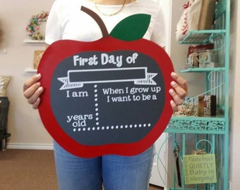 Back to School Apple Chalkboard
