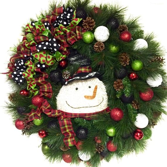 xxl 36 indoor outdoor snowman wreath christmas wreath winter wreath