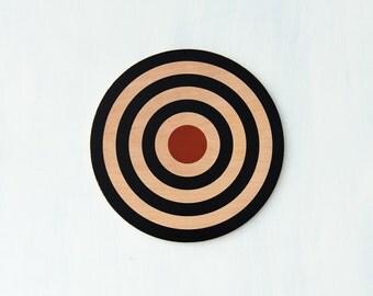 "Target Wall Decor, Circle Wall Art, Target Art, Bull's Eye Art, Archery Target Decor, Target Wall Hanging,16"" Circle,Your Choice of Colorway"