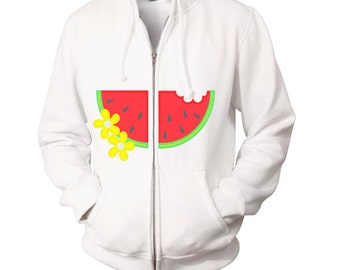 Hoodie split watermelon applique split hoodie frontembroidery - Machine embroidery applique designs - 4, 5, 6 and 7 inches  INSTANT DOWNLOAD