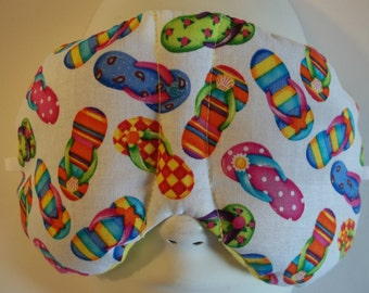 Herbal Hot/Cold Therapy Sleep Mask with adjustable and removable strap Flip Flops