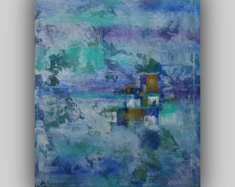 Original  Large Abstract Painting 40 x 32 Canvas