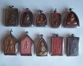 10 Thai Buddhist Buddha Clay Amulet Medallions