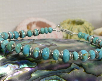 Nevada Blue Turquoise bracelet Bangle Bracelet Boho Handmade Jewelry Hippie Bracelet