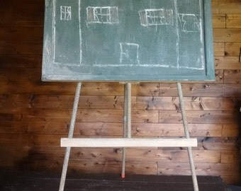 Vintage French Blackboard Menu Board Restaurant Cafe Kitchen Note Board Reminder Shop Display Childs Chalkboard circa 1960's / English Shop