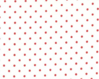 Essential Dots in White with Red by Moda
