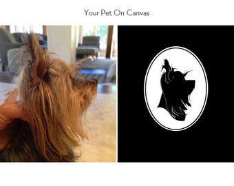 silhouPETte Portrait: Custom Pet Portrait with Facial Details