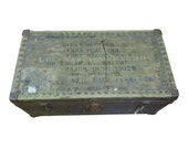 Original WWII Trunk Used in WWII & the Korean War - Id'd