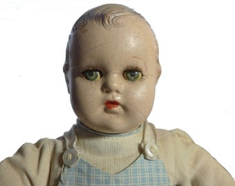 "Original Antique 11"" 1930s Madame Alexander Little Genius Baby Boy Doll"