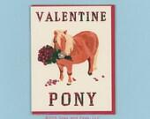 VALENTINE PONY Is Setting The MOOD - Valentine Pony - Funny Valentine - Pony Card - Valentine Card - Pony - Pony Card - Original Art