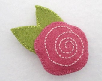 Felt Rose Pin / Brooch