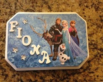 Custom Frozen Name Sign/Hair Bow Holder