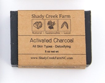 Charcoal Soap Activated Charcoal Soap Natural Soap Vegan Soap Unscented Soap Gift for Men Husband Gift Stocking Stuffer lump of coal soap