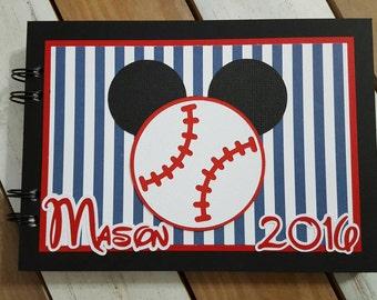 Personalized Disney Baseball Autograph Book