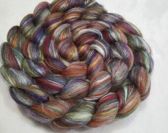 Merino/Tussah Silk Roving 70/30 - 4 oz - Ashland Bay Jamaica - 21.5 Micron