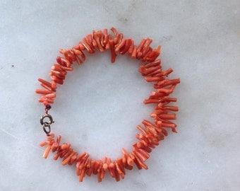Vintage Red natural coral bracelet
