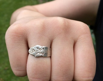 Spoon Ring - Sterling Silver Size 8