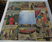 """DC original vintage Superman comic strip Art square, little 10"""" mirror"""