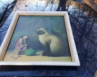 Mid-century Margaret Mcdonald Phillips Siamese Cat Framed Print